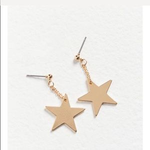 Urban penny charm drop post earring